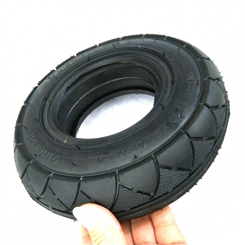 Neumático macizo 8 pulgadas 200X50 llanta sin motor