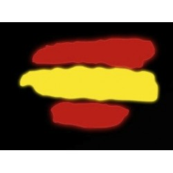 Pegatina de vinilo reflectante de la bandera de España