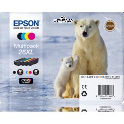 Pack multi pack cartuchos 26 Oso polar original de la marca EPSON