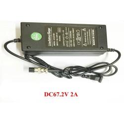Cargador de bateria Iones de Litio de 67,2V y 2A ideal para citycoco