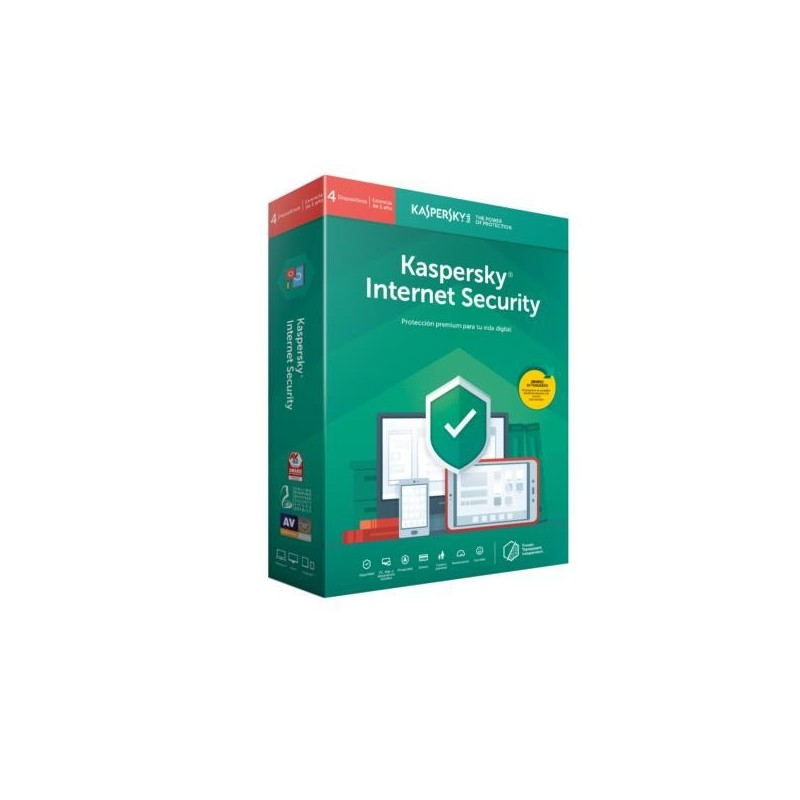 Kaspersky Lab Internet Security 2019, 4 licencia(s), 1 año(s), Base license, Soporte físico